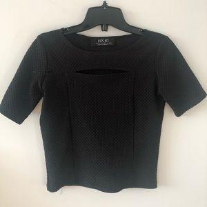 3/$30🌻HKR black basic top